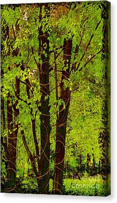 Spring Splendor, Verdant Green Fall Leaves Canvas Print by Tina Lavoie
