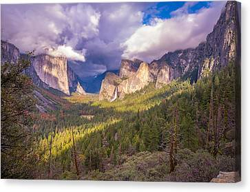 Canvas Print featuring the photograph Spring Storm In Yosemite Valley by Scott McGuire