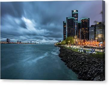 Storm Season In Detroit  Canvas Print
