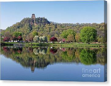 Spring Sugarloaf With Reflections Canvas Print by Kari Yearous