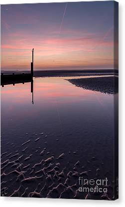 Spring Sunset Canvas Print by Adrian Evans