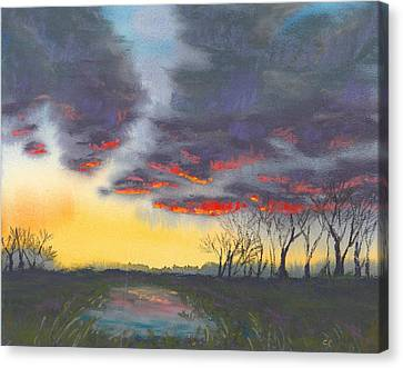 Spring Sunset Canvas Print by Christine Camp