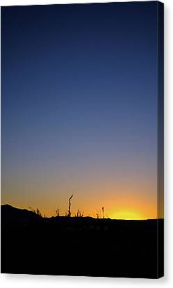 Spring Sunset Fort Mohave Az Canvas Print