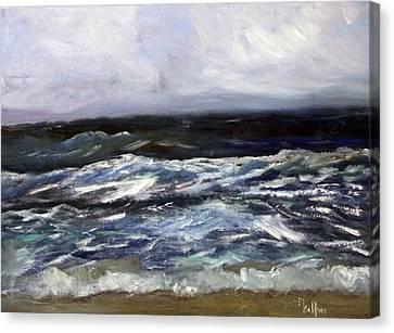 Spring Surf Canvas Print by Michael Helfen