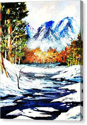 Spring Thaw Canvas Print by Al Brown