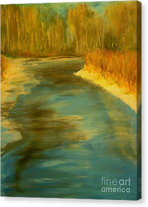 Spring Thaw Canvas Print by Julie Lueders