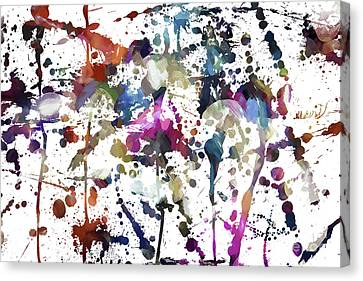 Canvas Print featuring the digital art Spring Time Splat by Margie Chapman