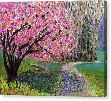 Spring Tree At New Pond Farm Canvas Print