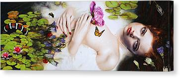 Nude Canvas Print - Spring by Vic Lee