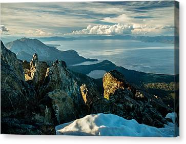 Spring View From The Top Of Mount Tallac Canvas Print