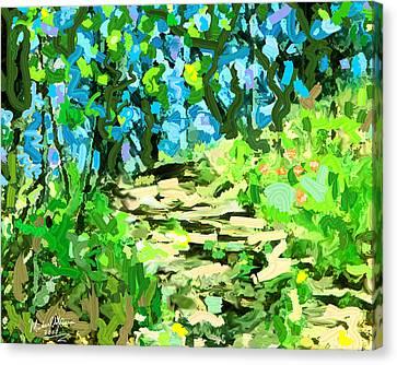 Spring Wood Path  Canvas Print