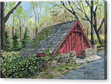 Springhouse At Cuttalossa Canvas Print