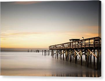 Springmaid Pier Mathew Aftermath Canvas Print by Ivo Kerssemakers