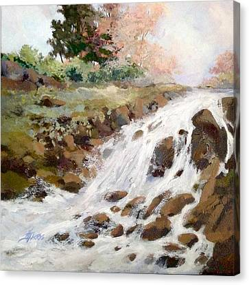 Canvas Print featuring the painting Spring's Promise by Helen Harris