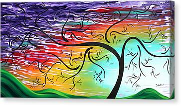 Springs Song By Madart Canvas Print by Megan Duncanson