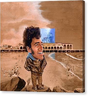 Springsteen On The Beach Canvas Print by Ken Meyer jr