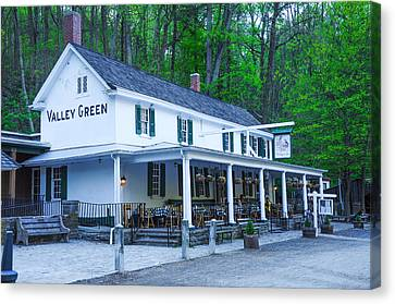 Wissahickon Canvas Print - Springtime At The Valley Green Inn by Bill Cannon
