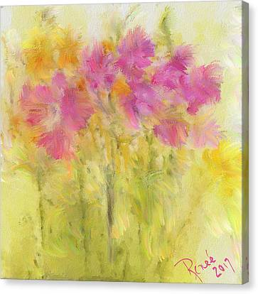 Fuschia Canvas Print - Springtime Fantasy by Renee Skiba