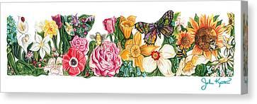 Springtime Flowers Canvas Print by John Keaton