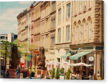 Jeff Kolker Canvas Print - Springtime In Halifax by Jeffrey Kolker