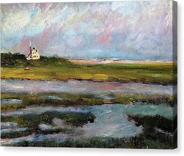 Springtime In The Marsh Canvas Print by Michael Helfen