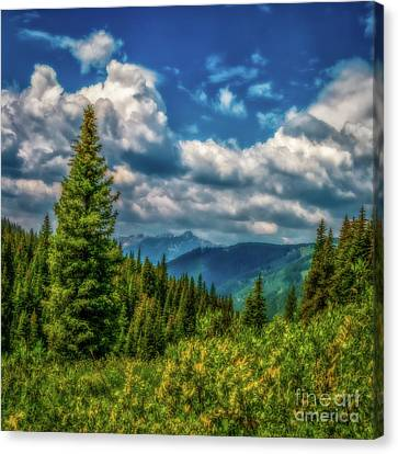 Thomas Moran Canvas Print - Springtime In The Rockies by Jon Burch Photography