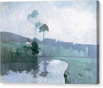Canvas Print featuring the painting Springtime by John Henry Twachtman