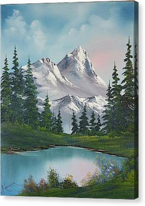 Bob Ross Canvas Print - Springtime Mountain by John Koehler