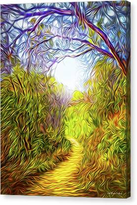 Springtime Pathway Discoveries Canvas Print
