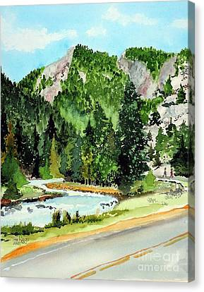 Springtime Poudre Canyon Canvas Print by Tom Riggs