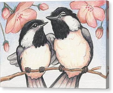 Springtime Sweethearts Canvas Print by Amy S Turner