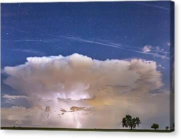 Springtime Thunderstorm On The Colorado Plains Canvas Print