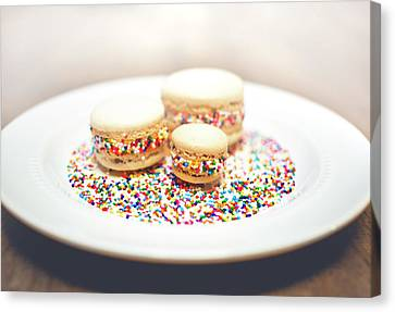 Sprinkles And Macarons Canvas Print