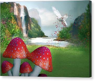 Sprinkling Red Magic Canvas Print by Georgiana Romanovna