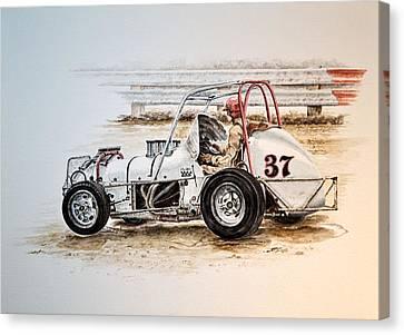 Sprint N Dirt Canvas Print