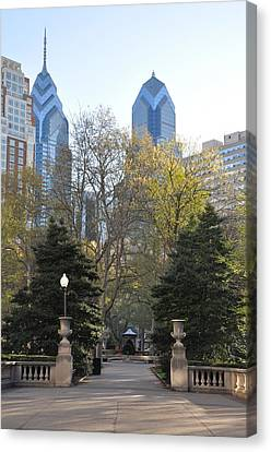 Sprintime At Rittenhouse Square Canvas Print by Bill Cannon