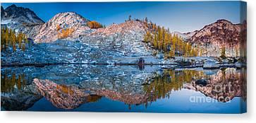 Sprite Lake Panorama Canvas Print by Inge Johnsson