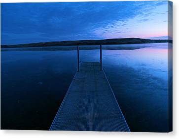 Springbrook Lake At Dawn Canvas Print