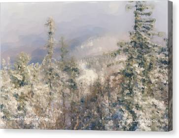 Spruce Peak Summit At Sunday River Canvas Print