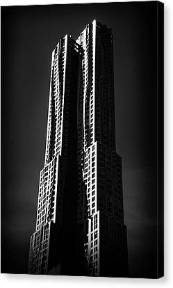 Canvas Print featuring the photograph Spruce Street By Gehry by Jessica Jenney