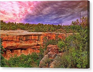 Canvas Print featuring the photograph Spruce Tree House At Mesa Verde National Park - Colorado by Jason Politte