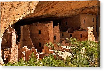 Pueblo Architecture Canvas Print - Spruce Tree House View by Jim Chamberlain