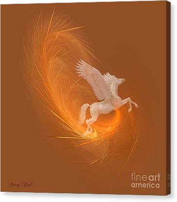 Spun From Gold Canvas Print by Corey Ford