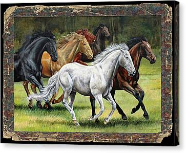 Spunky And The Gang Canvas Print by Cynthia Westbrook