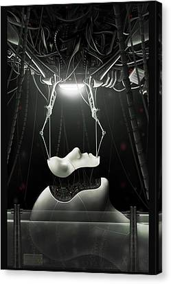 Wire Canvas Print - Spyrotek Dekonstrukt by Martin Bland