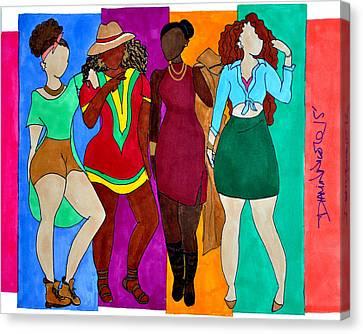 Squad Canvas Print by Diamin Nicole
