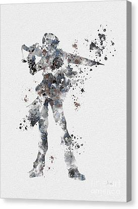 Squall Leonhart Canvas Print by Rebecca Jenkins