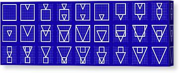 Squangle -alphabet- Grid Blueprint Canvas Print by Coded Images