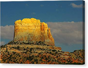 Square Butte - Navajo Nation Near Kaibeto Az Canvas Print by Christine Till