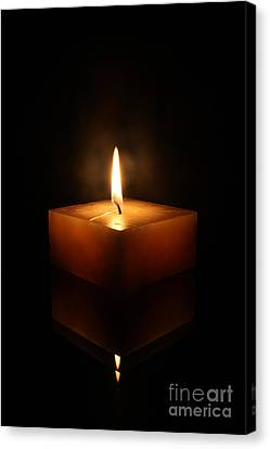 Square Candle Canvas Print by Jorgo Photography - Wall Art Gallery